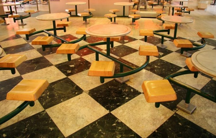 LVT flooring inside a restaurant in the UK.